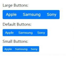 دکمه ها در بوت استرپ4