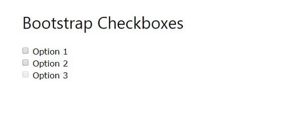 chechbox in bootstarp
