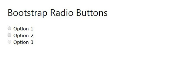 radio button in bootstap