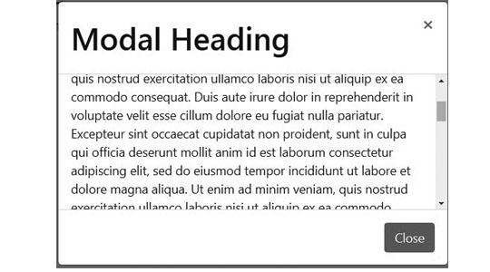 modal scrolling